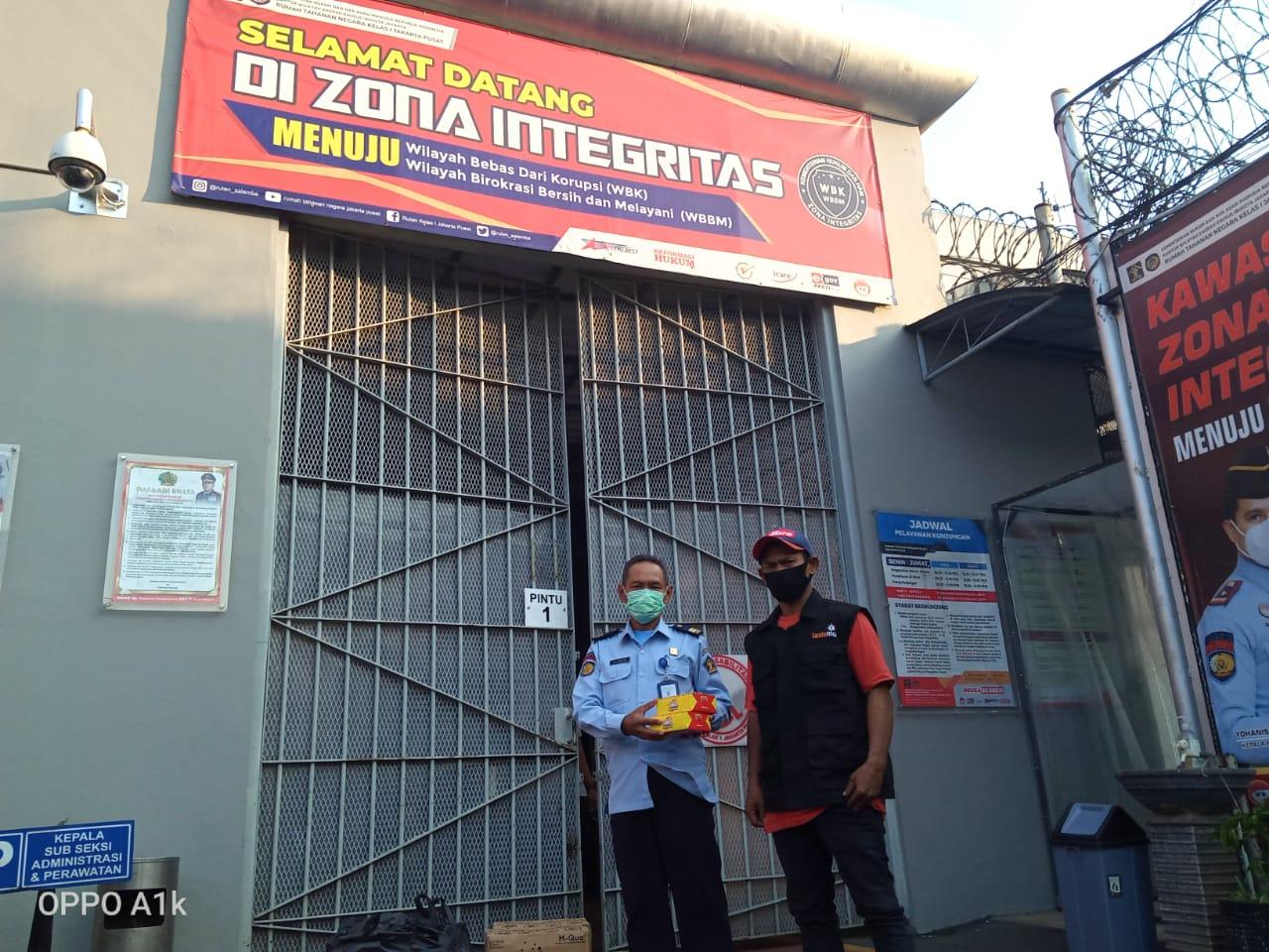 Cover Lazismu PP Muhammadiyah Bagikan Takjil di Rutan
